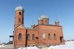 Kościół St Panteleimon uzdrowiciel, Belokurikha miasteczko, Altai, R zdjęcie royalty free