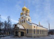 Kościół St Panteleimon uzdrowiciel przy rezydencją ziemską Kushelev na Sverdlovsk bulwarze St Petersburg Rosja zdjęcia stock