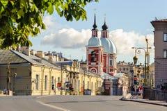 Kościół St Panteleimon uzdrowiciel, St Petersburg obraz royalty free