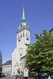 Kościół St Peter w Monachium, Bavaria Zdjęcie Stock