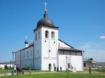 Kościół St Sergius Radonezhkiy w St John Baptystyczny monaster Sviyazhsk Obraz Stock