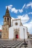Kościół StJohn baptysta przy miejscem republika w Tomar, Portugalia zdjęcie stock