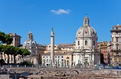 kościół szpaltowy Italy Maria Rome Santa trojańczyk Obrazy Royalty Free