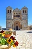 Kościół transfiguracja, góra Tabor, Niski Galilee, Izrael zdjęcia stock