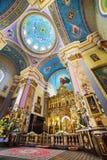 Kościół transfiguracja w Lviv Ukraine Zdjęcie Stock