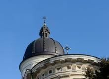 Kościół transfiguracja, zabytek architektura w Lviv Zdjęcia Royalty Free