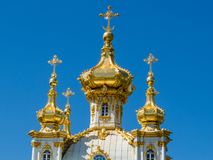 Kościół Uroczysty pałac w Peterhof Fotografia Royalty Free