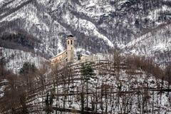 Kościół w śniegu Zdjęcia Royalty Free