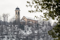 Kościół w śniegu Zdjęcia Stock