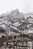 Kościół w śniegu Fotografia Stock