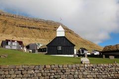 Kościół w Faroe wyspach Fotografia Royalty Free