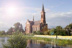 Kościół w grodzkim Postavy Zdjęcie Royalty Free