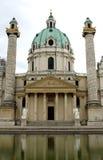 Kościół w KARLSPLATZ w Wiedeń Austria Obraz Royalty Free
