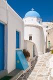 Kościół w Lefkas, Paros, Grecja zdjęcie stock