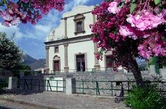 Kościół w Lipari, Eolowe wyspy, Sicily, Włochy Obrazy Royalty Free