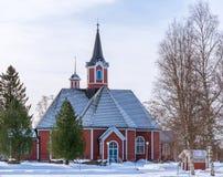 Kościół w Oulainen, Finlandia Zdjęcia Royalty Free