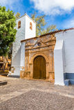 Kościół W Pajara, Fuerteventura -, kanarek Isl , Hiszpania fotografia stock
