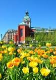 Kościół w parku, miasto Sztokholm Obraz Royalty Free