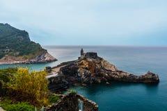 Kościół w Portovenere 5 Terre Włochy obraz royalty free