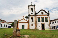kościół w Rio De Janeiro paraty Santa Rita Zdjęcia Stock