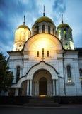 Kościół w Samara mieście w wieczór, Rosja Obrazy Stock