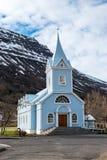 Kościół w Seydisfjordur, Iceland Zdjęcia Stock