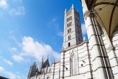 Kościół w Siena, Włochy Zdjęcia Royalty Free