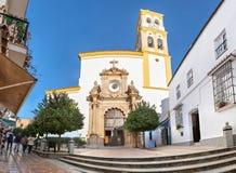 Kościół w Starym miasteczku Marbella zdjęcia royalty free