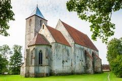 Kościół w Valjala Saaremaa wyspa, Estonia obraz stock