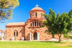 Kościół w wiosce Pilon (Pylonas) rhodes Zdjęcia Royalty Free