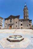 Kościół w Zaragoza, Hiszpania Obrazy Royalty Free