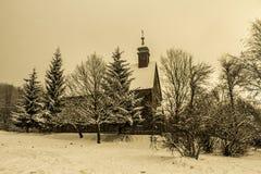 Kościół w zimie Obraz Royalty Free