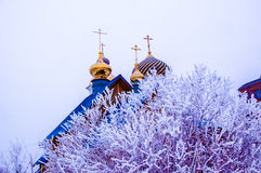 Kościół w zimie, Obraz Stock