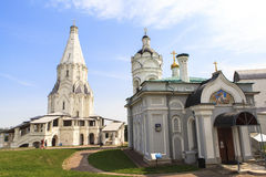 Kościół wniebowstąpienie, Kolomenskoye, Rusia zdjęcia royalty free