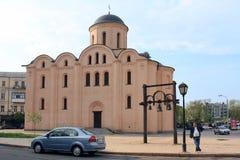 Kościół wniebowzięcie Dziewiczy Pirogoshchi, Kijów Fotografia Stock