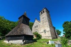 Kościół wniebowzięcie maryja dziewica, Vysker Zdjęcia Royalty Free