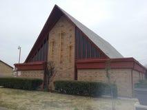 Kościół wskazuje niebo Obrazy Royalty Free