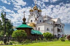 Kościół Wszystkie święty w Yekaterinburg Obraz Stock