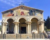 Kościół Wszystkie narody lub bazylika agonia obraz royalty free