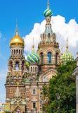 Kościół wybawiciel na krwi w Petersburg fotografia royalty free