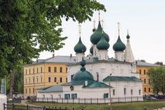 Kościół wybawiciel na mieście Yaroslavl Zdjęcia Royalty Free