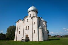 Kościół wybawiciel na Nereditsa nowicjusz Rosja zdjęcie royalty free