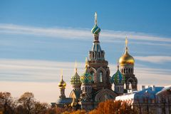 Kościół wybawiciel na Rozlewającej krwi, Rosja Zdjęcie Royalty Free