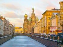 Kościół wybawiciel na Rozlewającej krwi, St Petersburg, Rosja fotografia royalty free