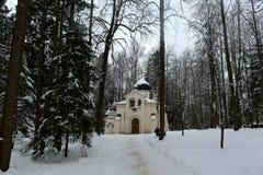 Kościół wybawiciel ręki w rezydencji ziemskiej - rezerwuje «Abramtsevo « zdjęcia stock