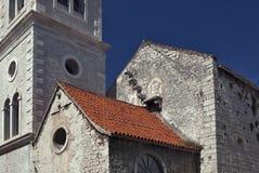 Kościół z zamkniętym schody niebo obrazy stock