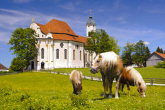 Kościół zwany Wieskirche w Bavaria Zdjęcia Stock