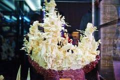 Kości cyzelowanie koronujący żuraw Zdjęcie Royalty Free