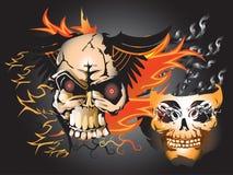 Kości czaszki ogień Fotografia Royalty Free