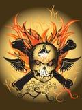 Kości czaszki ogień Fotografia Stock